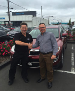 Jason Wright, from Mazda Geelong and me the happy customer