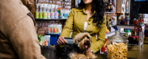 Customer at Pet Shop --- Image by © Patterson Graham/Corbis